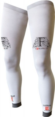 odzież kompresyjna Compressport Full Leg White