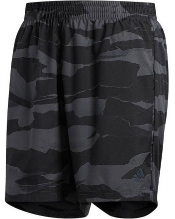 "Adidas Run It Camo Short 5"" Grey"