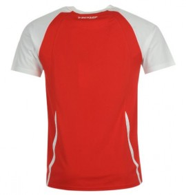 Dunlop Club Crew Tee Men Red/White