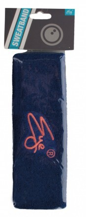 Eye Head Band Navy Peach Logo