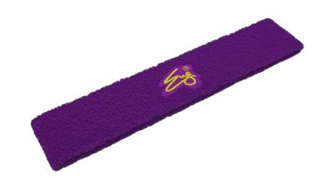 Eye Head Band Purple with Yellow Logo