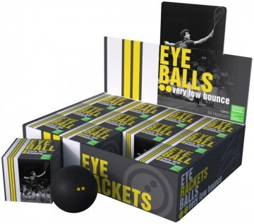Eye Balls Double Yellow Dot 12szt