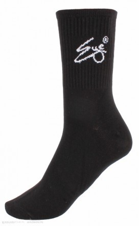 Eye Socks Black White Logo 1 Pack