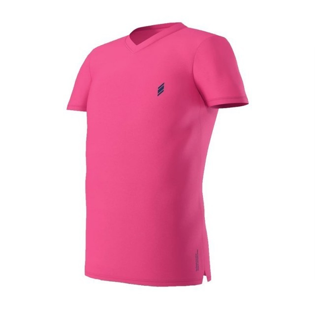 Eye V-Neck Pink / Navy