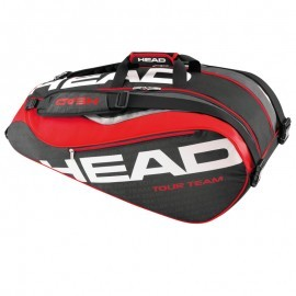 Head S16 Tour Team 9R Supercombi Black-Red torba do squasha