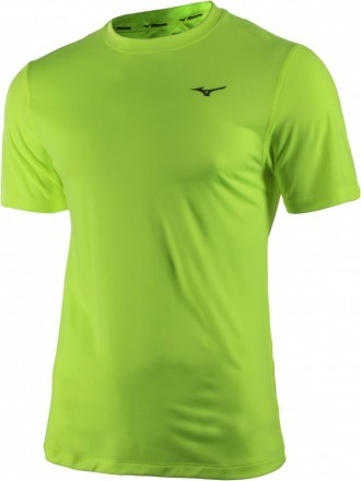 Mizuno Impulse Core Tee Blue Safety Yellow