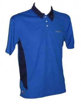 Karakal Leon Button Polo Niebieska