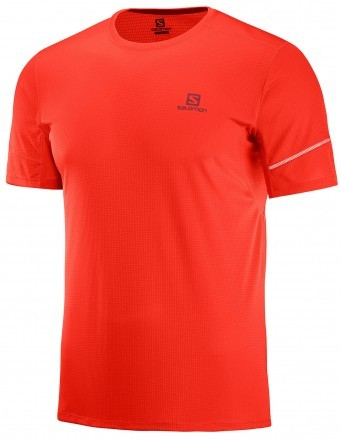 Salomon Agile Short Sleeve Tee Fiery Red