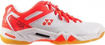 Yonex SHB 02 LX Coral/Orange buty do squasha damskie