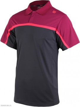 Wilson Summer Colorblock Polo Coal