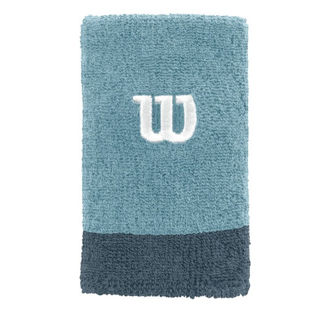 Wilson Extra Wide Wristband Blue 2 Pack