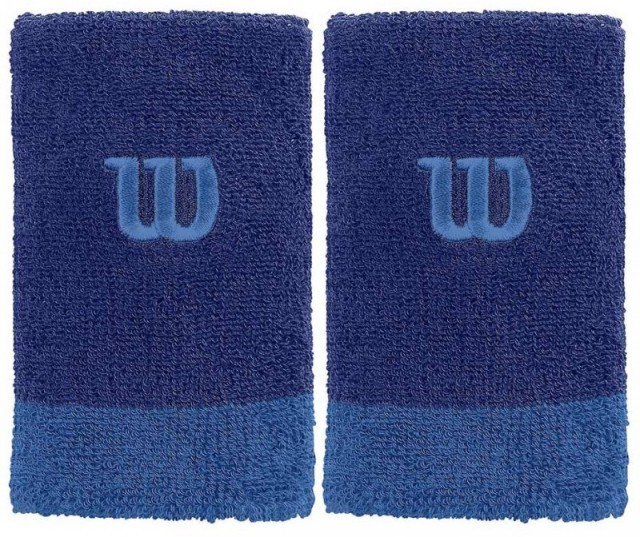 Wilson Extra Wide Wristband Blue