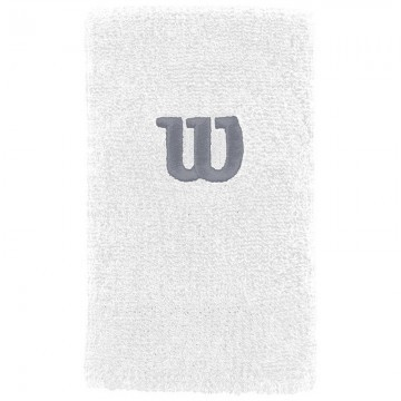 Wilson Extra Wide Wristband White / Trade Winds