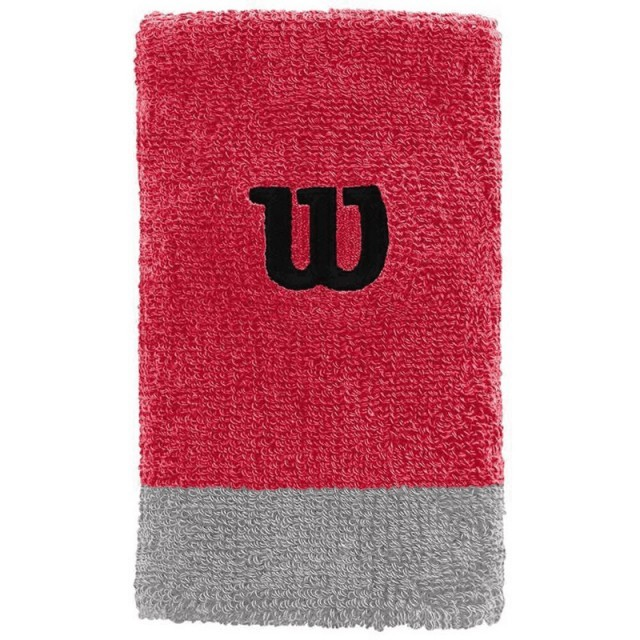 Wilson Extra Wide Wristband Infrared / Alloy / Black