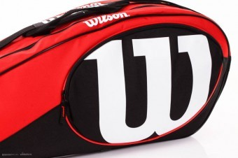 Wilson MATCH II 6PK BAG Red