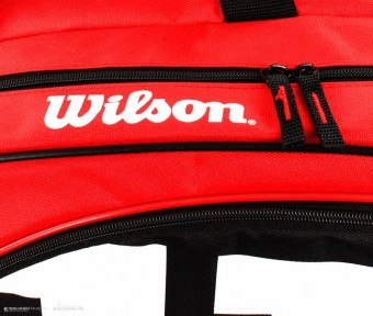 Wilson Match II 12PK Bag Red
