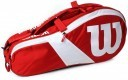 Wilson Match III 6Pack Bag Red White