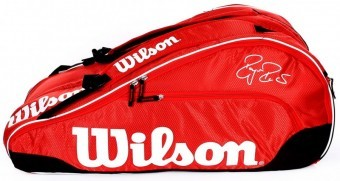 Wilson Federer Team III 12 Pack Red torba do squasha