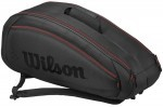 Wilson Fed Team 6Pack Black/Red torba do squasha