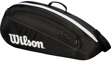 Wilson Fed Team 3 Pack 3R Bag Black / White