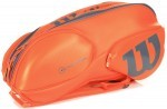 Wilson Vancouver 9Pack Orange/Grey torba do squasha