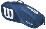 Wilson Team II 3PK Bag Navy torba do squasha