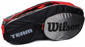 Wilson Team III 6Pack Bag Black Grey