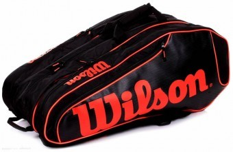 Wilson BURN TEAM 12 PK black torba do squasha