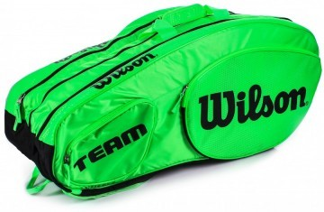 Wilson Tour Team III 12Pack Bag Green Black