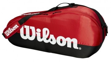 Wilson Team 1 Compartment Small 3R Bag Black / Red