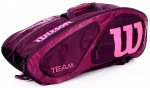 Wilson TEAM II 12PK Pink torba do squasha