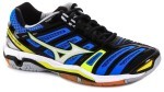 Mizuno Wave Stealth 4 Blue White buty do squasha