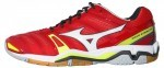 Mizuno Wave Stealth 4 Red White buty do squasha