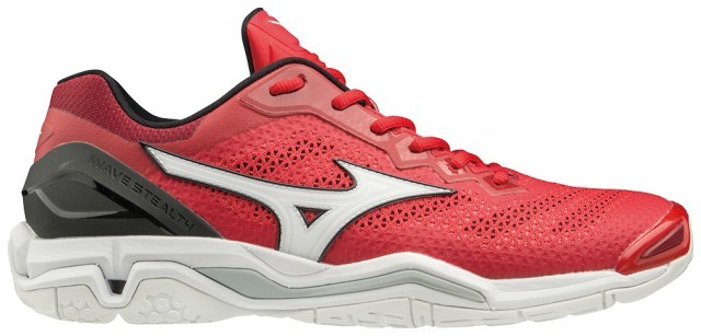 Mizuno Wave Stealth V Tomato / White