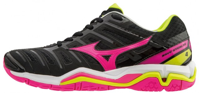 Mizuno Wave Stealth 4 Black Pink