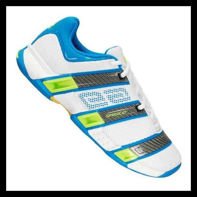 33a562be076fc Adidas Stabil Optifit Indoor biało - niebieskie - Buty do squasha ...