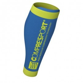 Compressport Calf R2 FLUO V2 Ice Blue