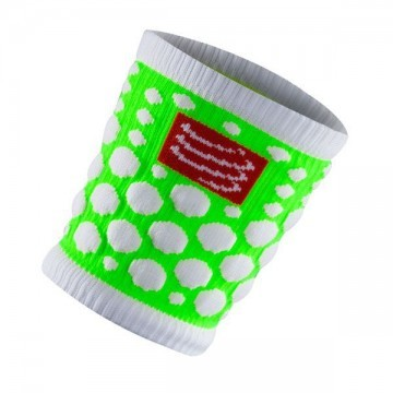 Compressport Sweat Band 3D Dots Fluo Green 2szt