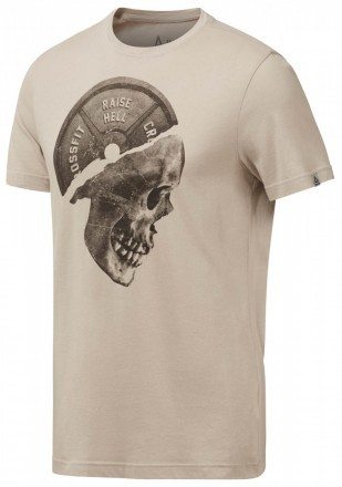 Reebok Plated Skull Tee Parchment