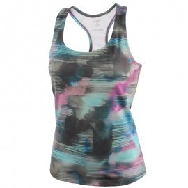 Asics Graphic Fitted Tank Abstract Nuage