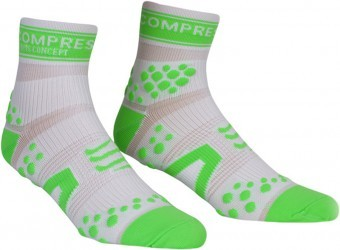 Compressport Pro Racing Socks V2 Run HI White/Green