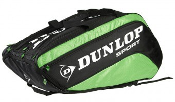 Dunlop Biomimetic Tour 10RKT Zielona torba do squasha