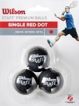 Wilson Squash 3 Ball Red Dot piłka do squasha